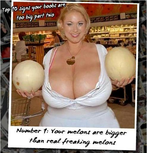 Top 10 Signs Your Boobs Are Too Big - Picture  Ebaums World-9809