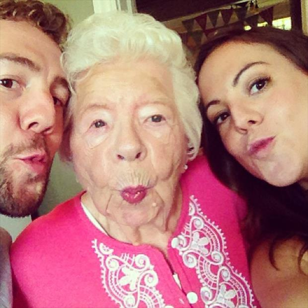 Image result for fun selfies with older generation