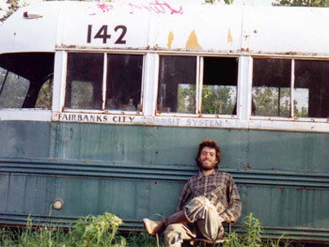 Self portrait of Chris McCandless taken days before his death as he wandered the Alaskan wilderness.