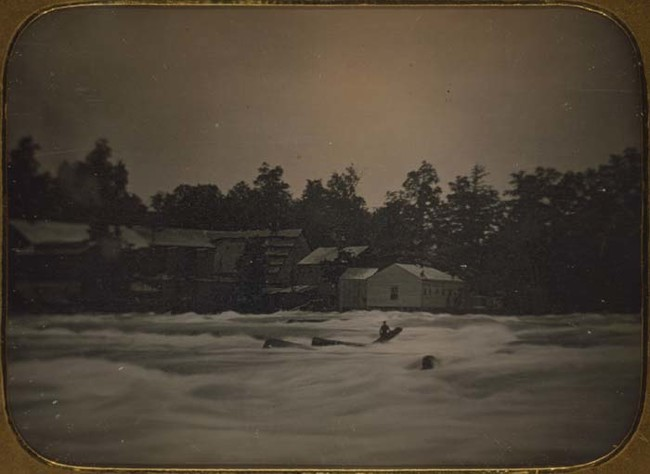 In 1853, Joseph Avery became stranded on a log in the Niagara River after his boat capsized. Avery managed to cling to the log for 18 hours before he was swept over the falls.