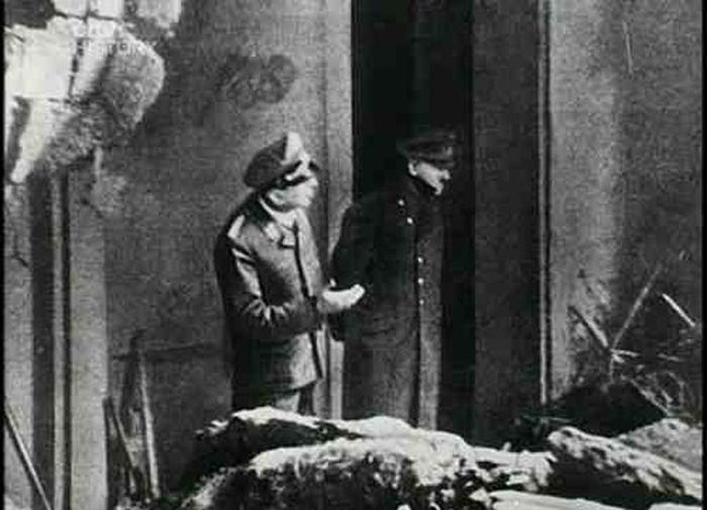 The last known photo of Hitler. It was taken just days before his suicide.