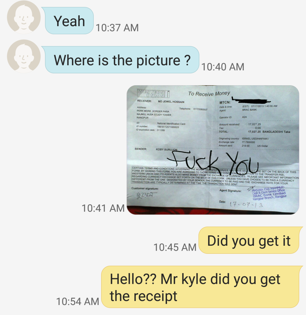 Images - How to tell a craigslist scammer