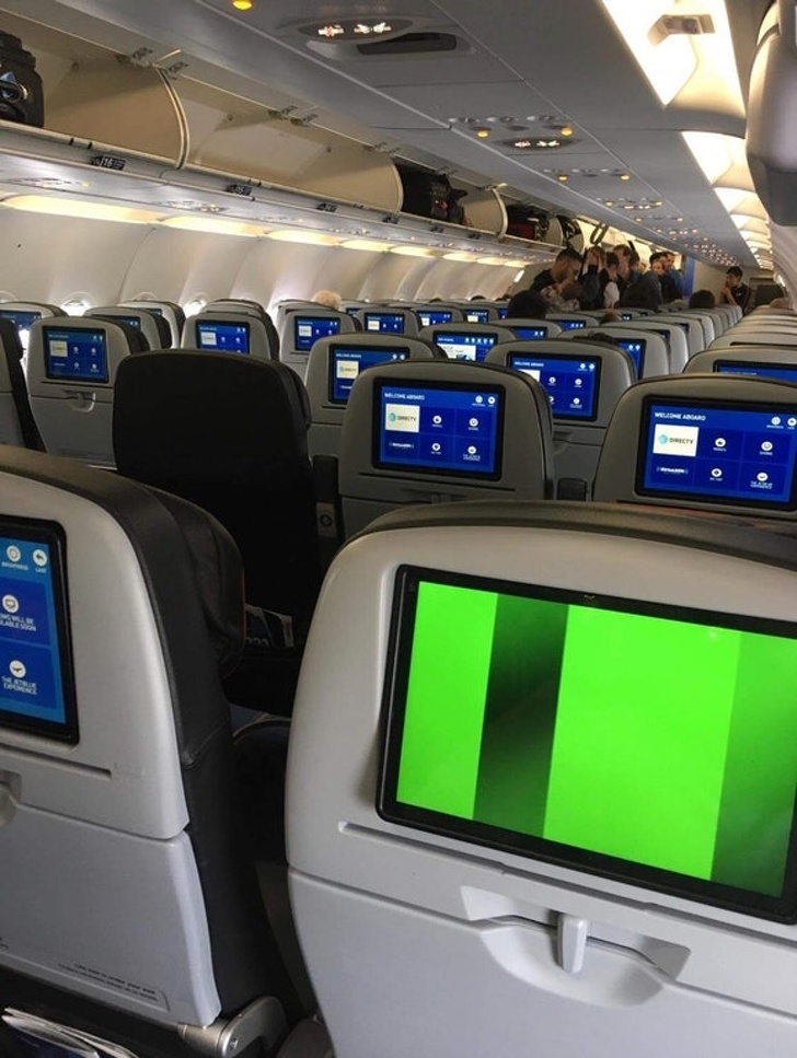 """""""I realize I have the only broken screen on the plane. This is why I don't play the lottery."""""""