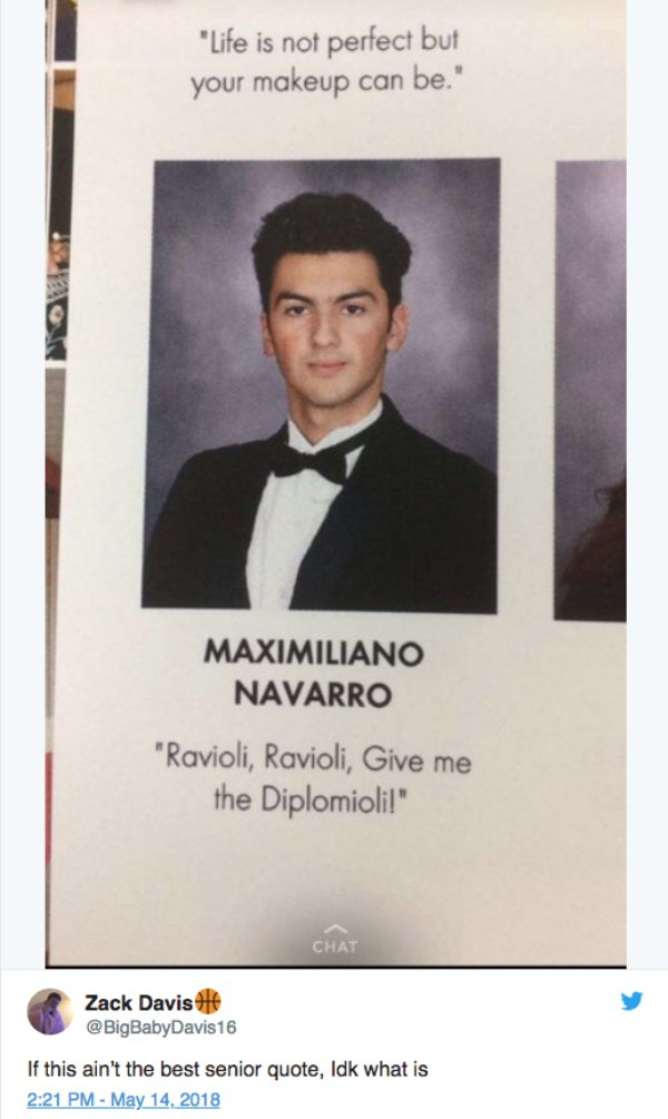 21 of the Best Yearbook Quotes from 2018 - Funny Gallery ...