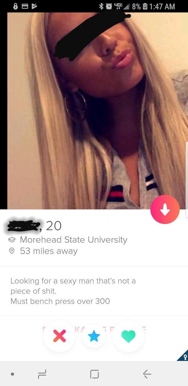 Tinder profiles slutty 158 Funny