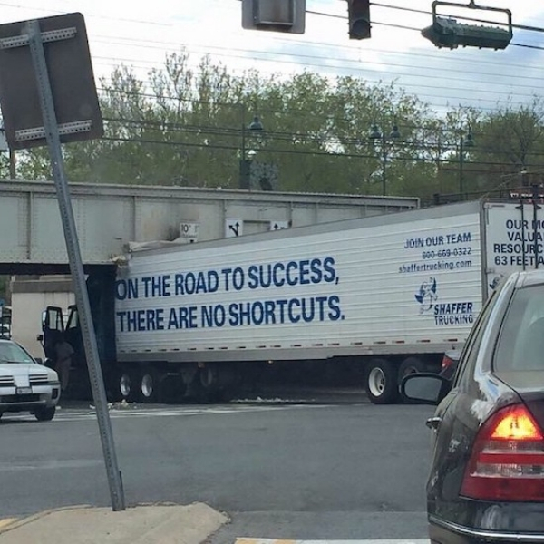 success irony - Our To Valua Ey Join Our Team 0006690322 shaffertrucking.com Resourc 63 Feeta On The Road To Success, There Are No Shortcuts. Shaffer Trucking