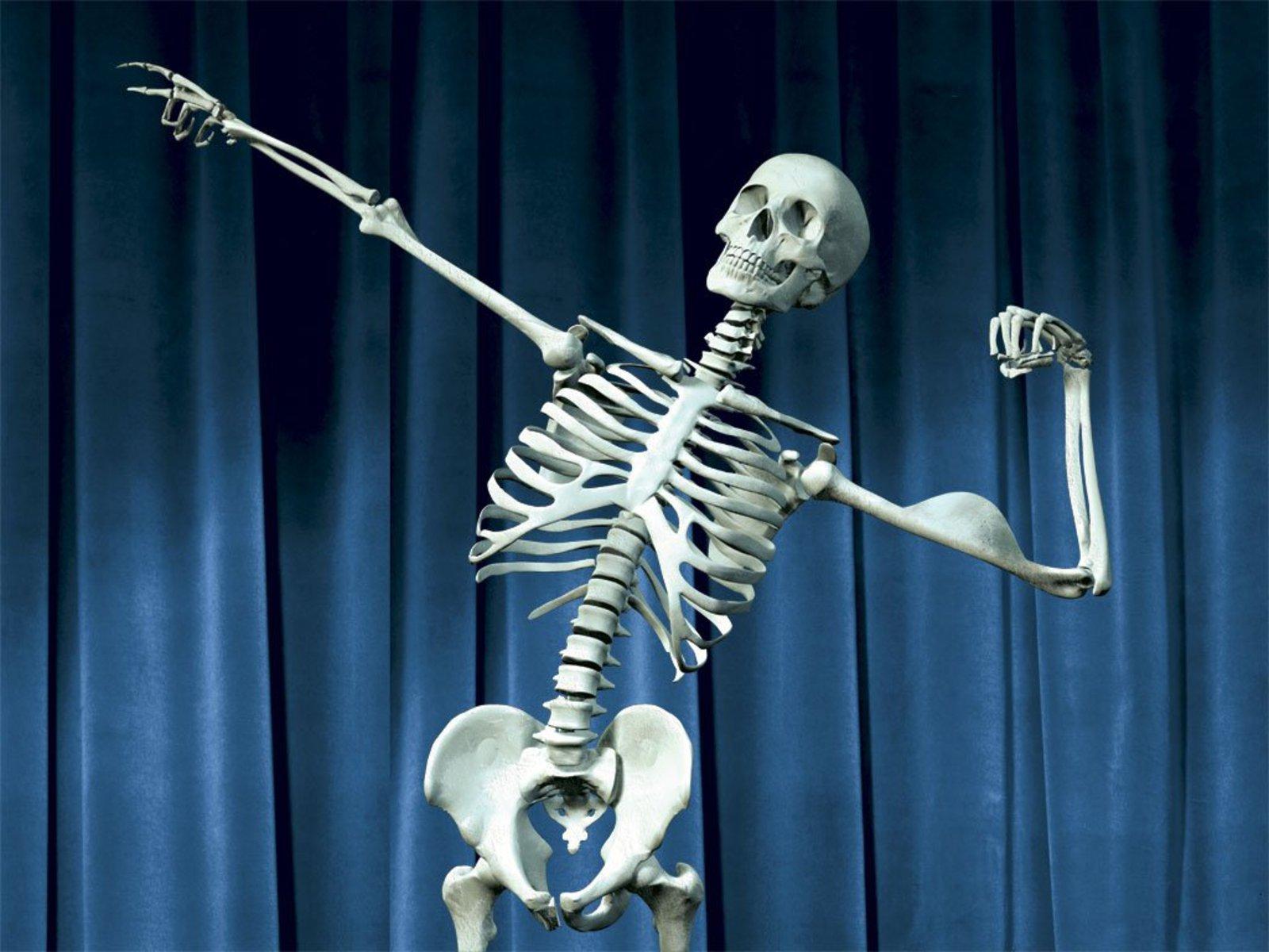 Картинки веселый скелет