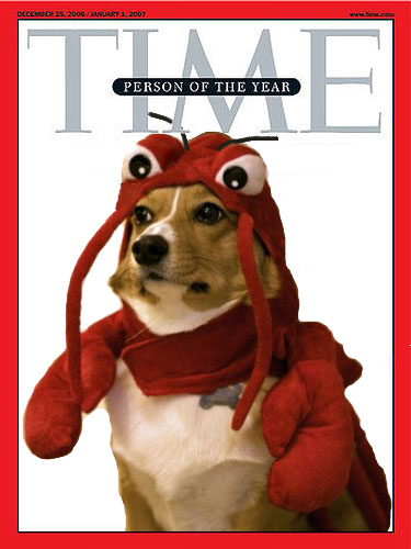 half pooch, half crustacean.  it did so much for all of us