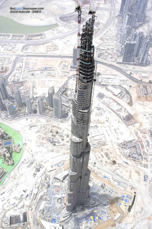 Dubai's highest sky scraper- Burj Dubai under construction.