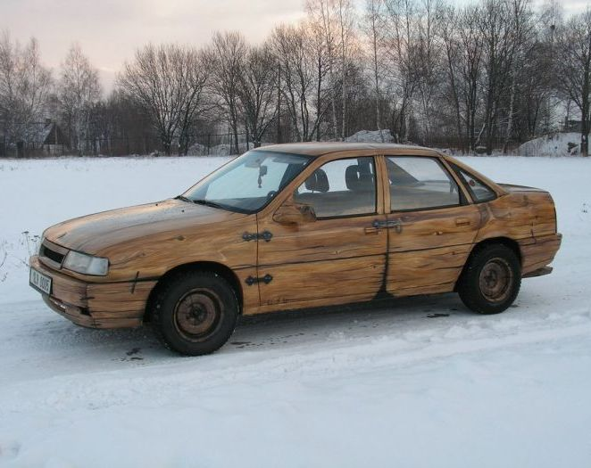 Car Made Out Of Wood