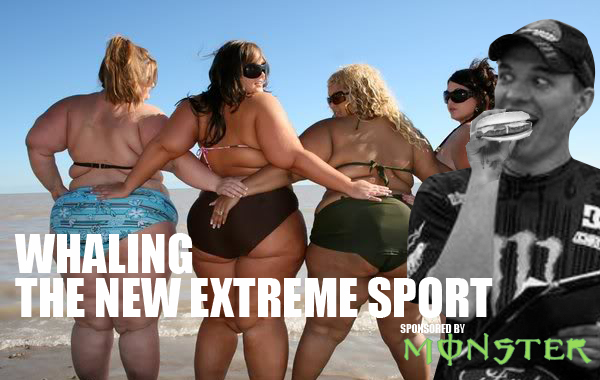 Forget Planking! Steve wanted to try the New Extreme Craze WHALING banned in most countries since 1986! He didn't realise he'd get a bite so quickly and so easily!