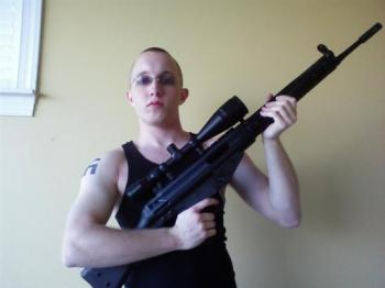 Should America give up the Freedom to bear arms because of guys like this? Thought we was building new prisons?