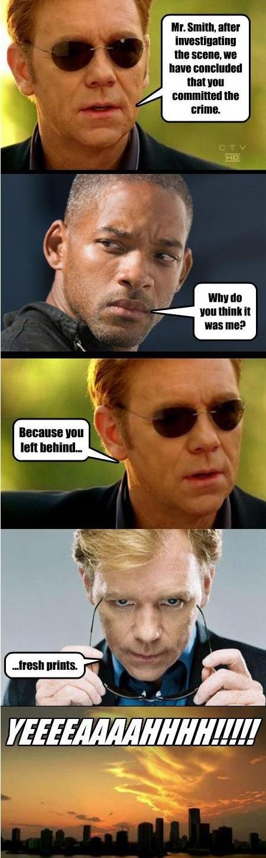Oh the CSI puns...