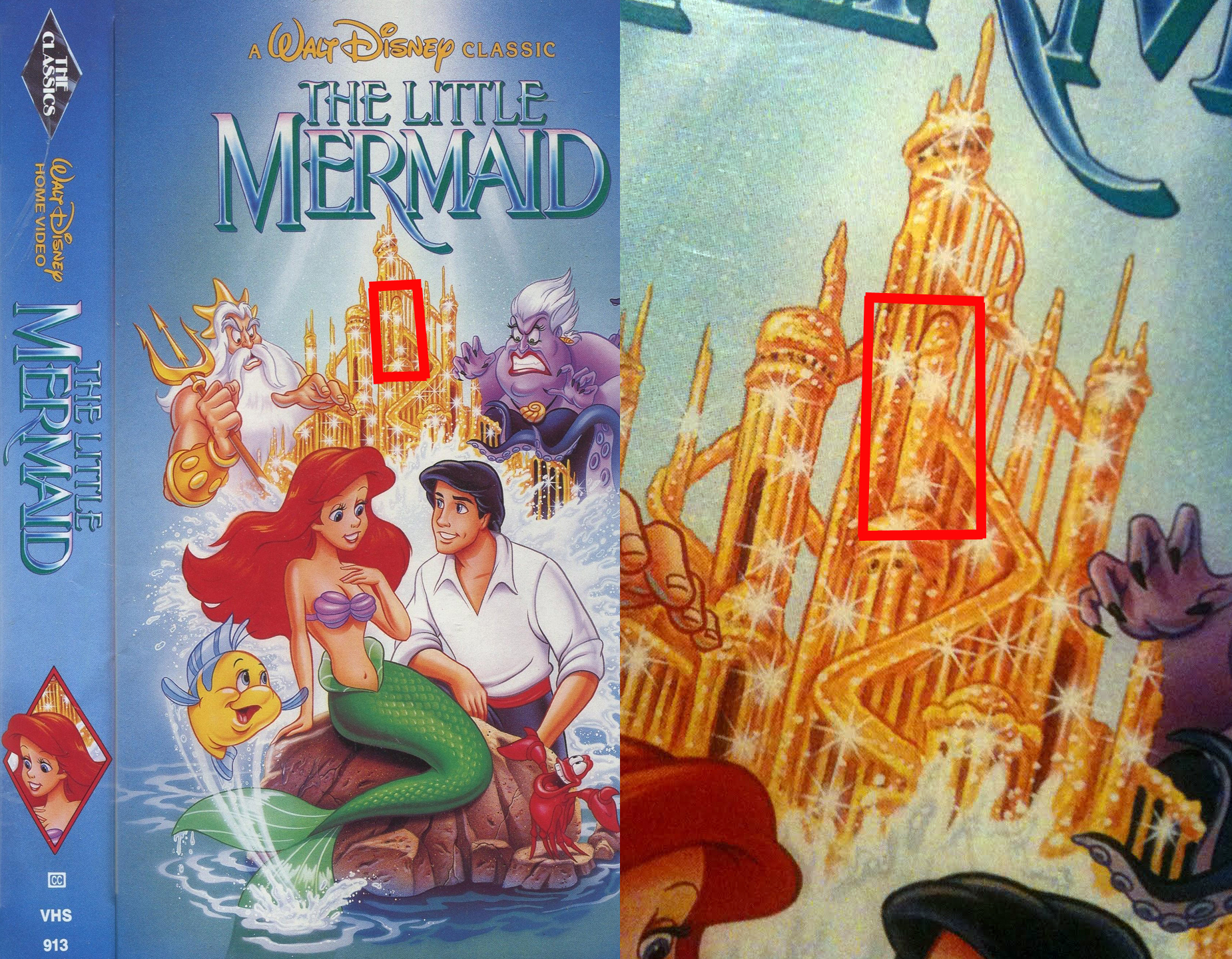 1 - A hidden penis on the cover of The Little Mermaid VHS box