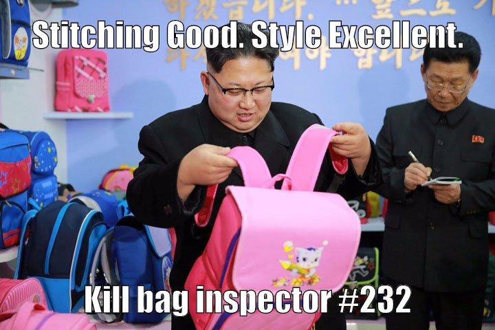 Kim Jong doing his thing.