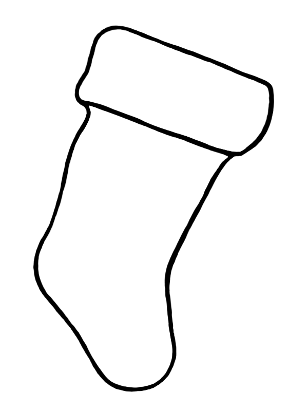 Create your best Holiday Stocking using this image. Entries can be done by hand or Photoshopped, but MUST use the stocking image above.