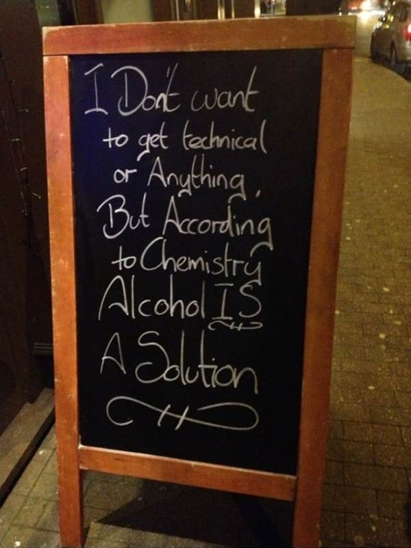 i don't want to get technical or anything, but according to  chemistry alcohol is the solution.