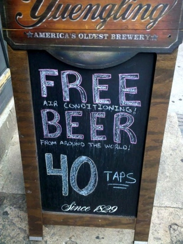 free air conditioning beer from around the world!