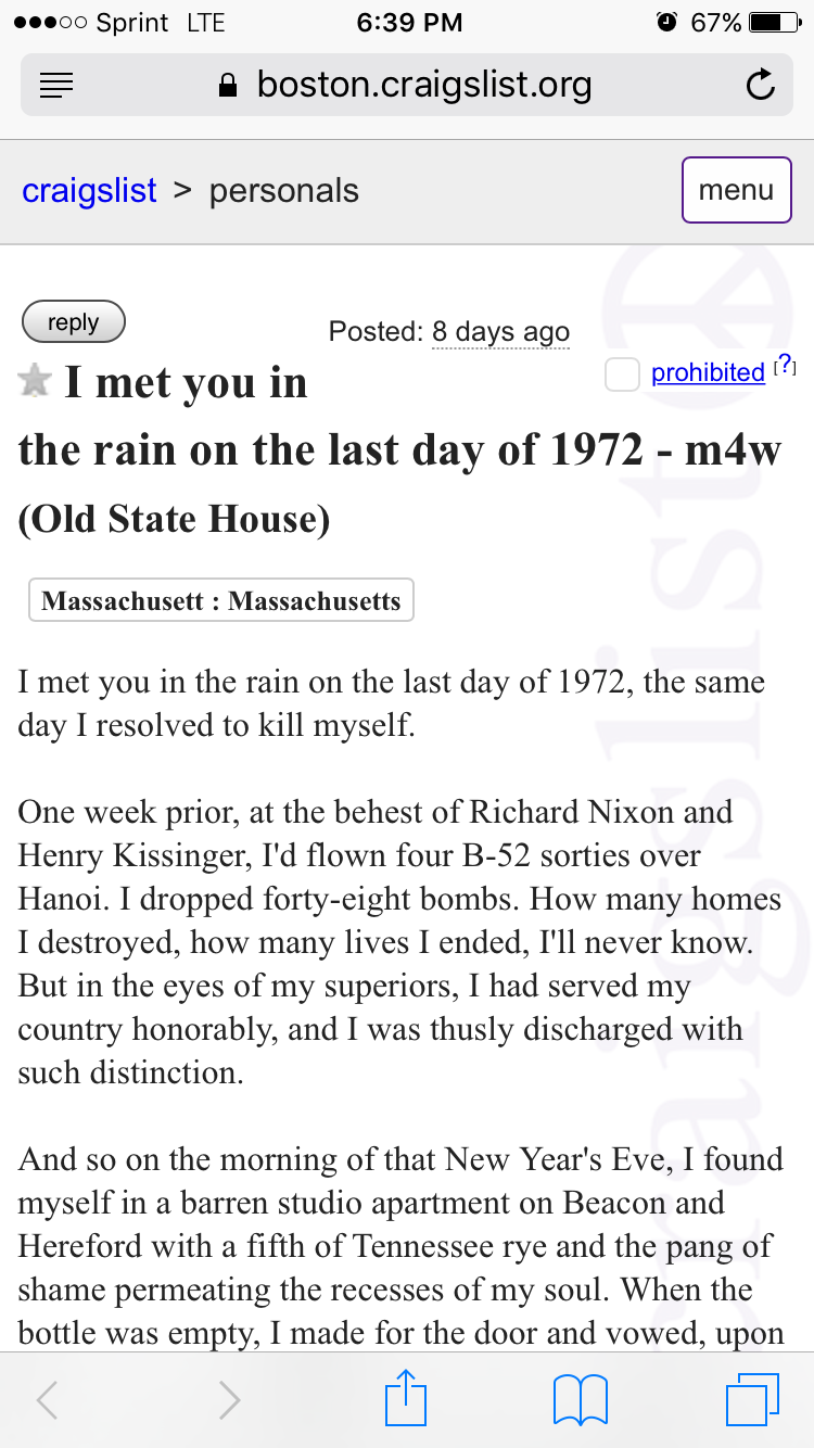 Craigslist Massachusetts dating Dejting Virginia
