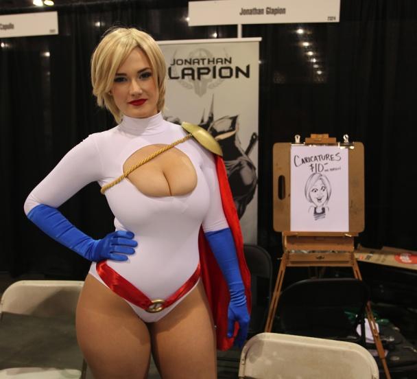 Alone! larkin love as power girl cosplay above told