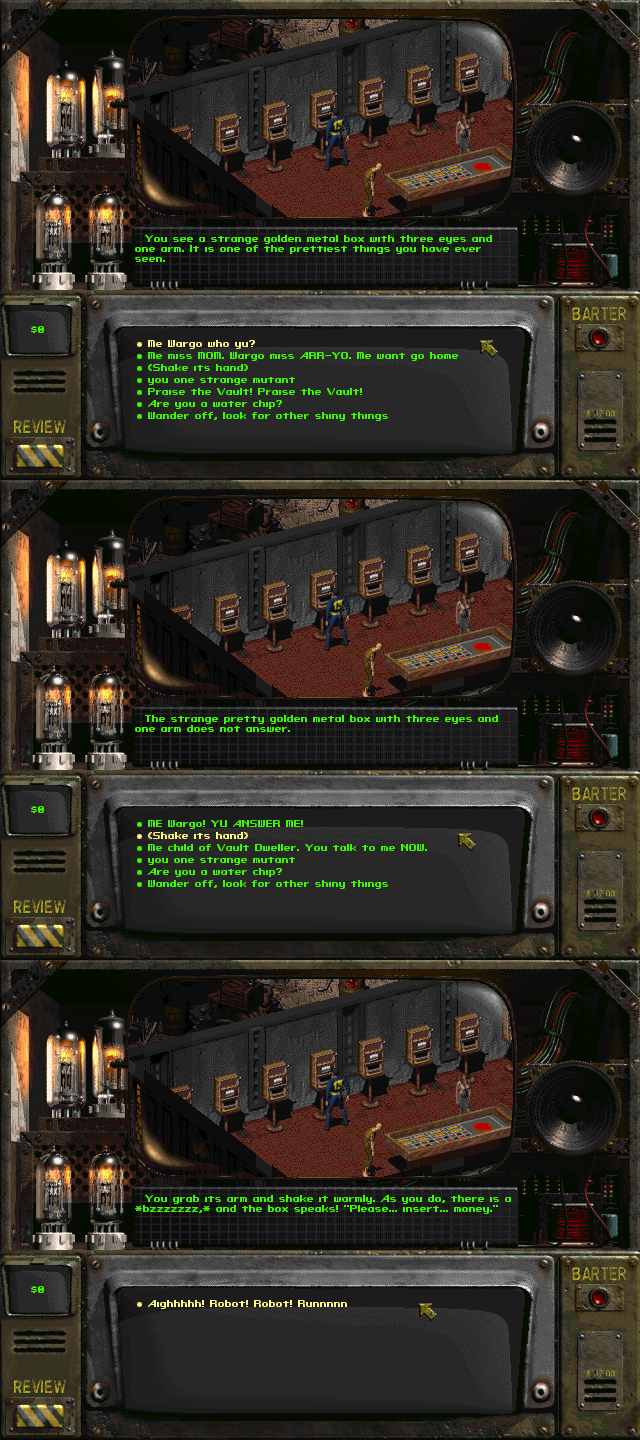 Playing Fallout 2 With Low Intelligence Will Leave You In