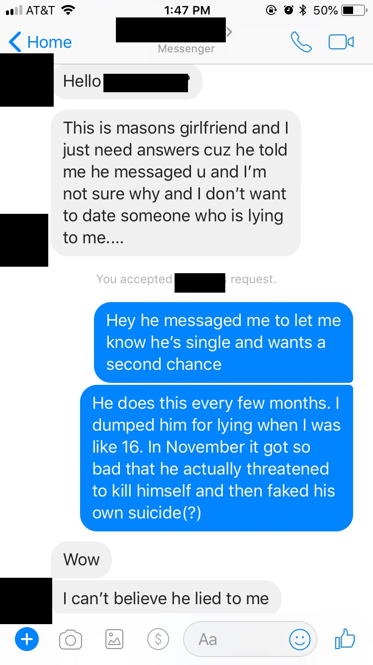 So-called Nice Guy's Girlfriend Texts His Ex After 7 Years