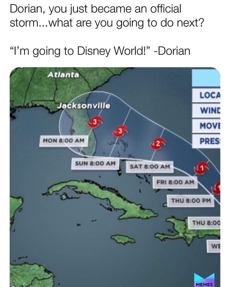 47 Florida Memes For Those Who Don T Fear Hurricane Dorian Wtf