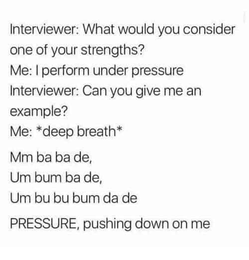 specification of drilling machine - Interviewer What would you consider one of your strengths? Me I perform under pressure Interviewer Can you give me an example? Me deep breath Mm ba ba de Um bum ba de Um bu bu bum da de Pressure, pushing down on me