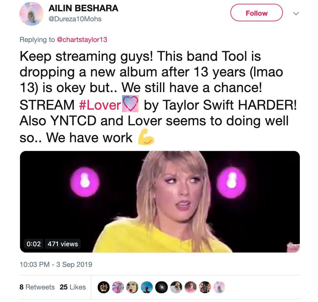 Taylor Swift Gets Upstaged By Tool New Album And Her Fans