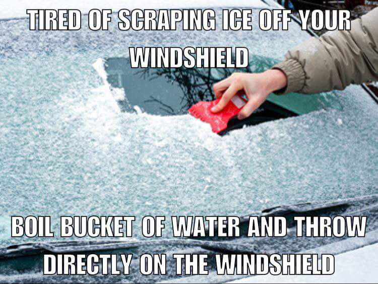 How To Get Ice Off Of Windshield >> 18 Hilarious Fake Life-Hacks To Winterize Your Car That ...
