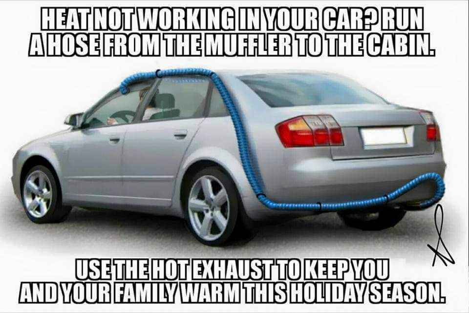 Winterizing Your Car: 18 Hilarious Fake Life-Hacks To Winterize Your Car That