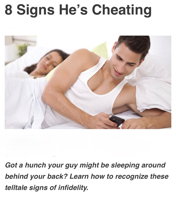8 Signs That Your Man Is Cheating On You - Facepalm