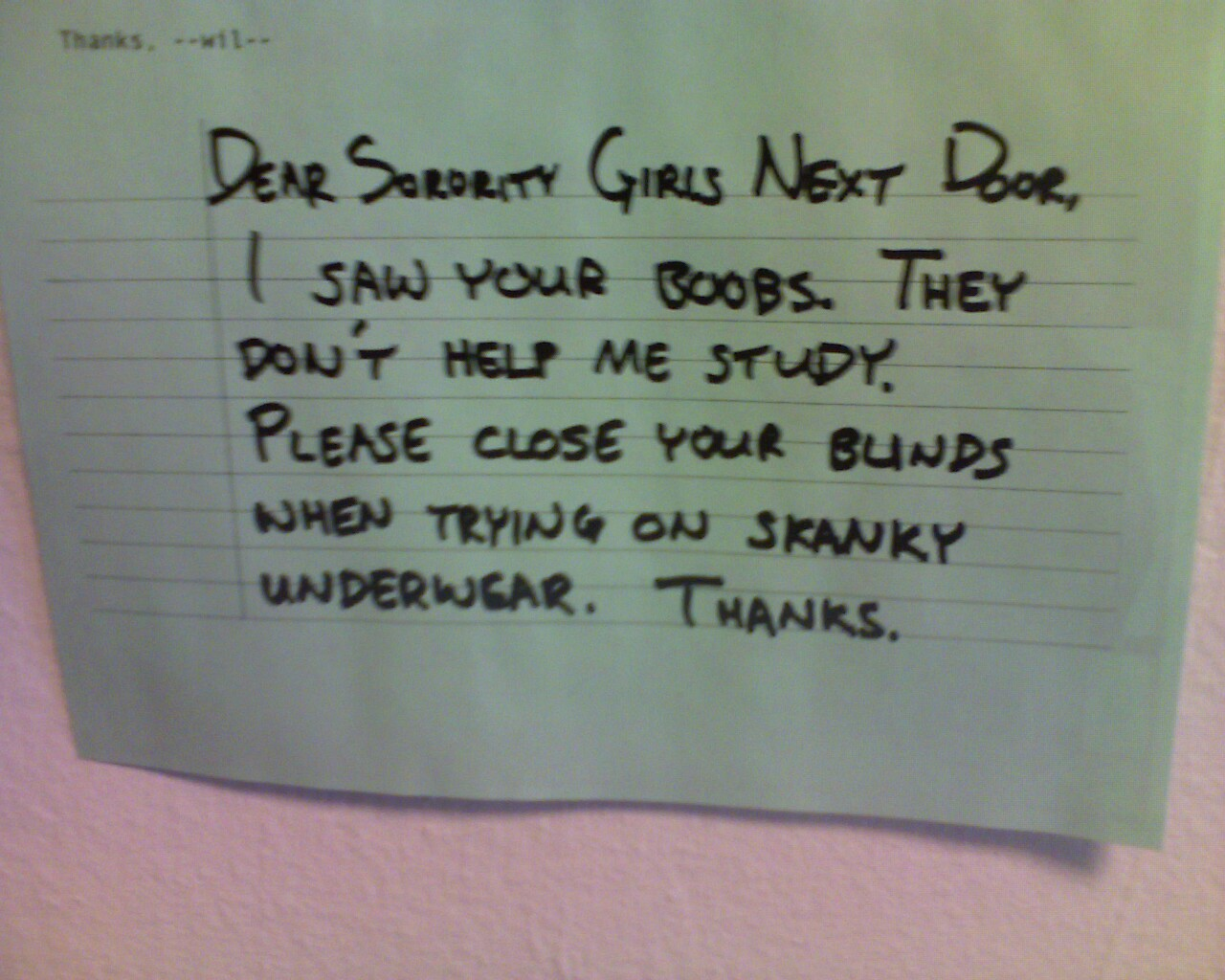 Strange and Funny Neighbor Notes - Gallery