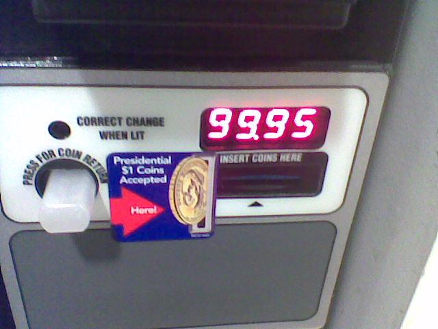 I hit the coin return.