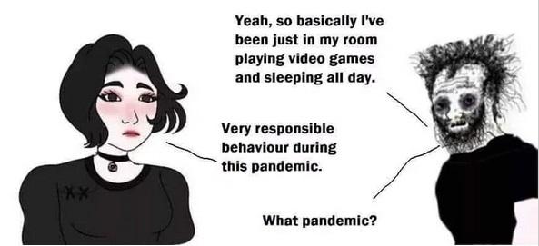 doomer girl meme template