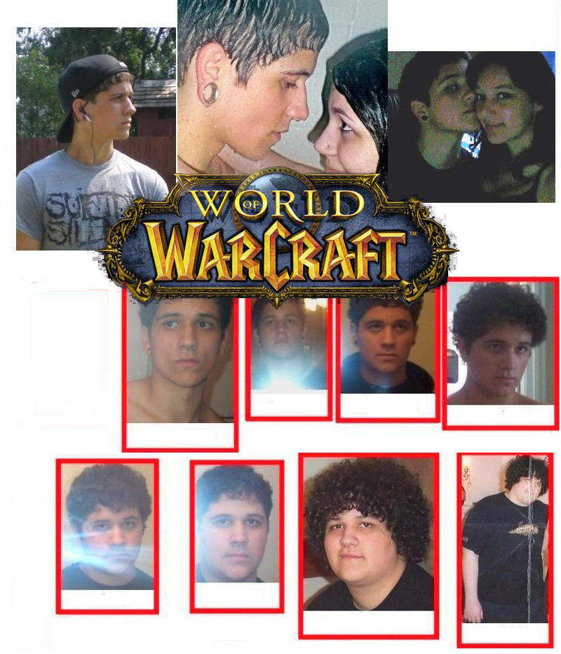 Check out the before and after of this guys appearance from playing World of Warcraft.