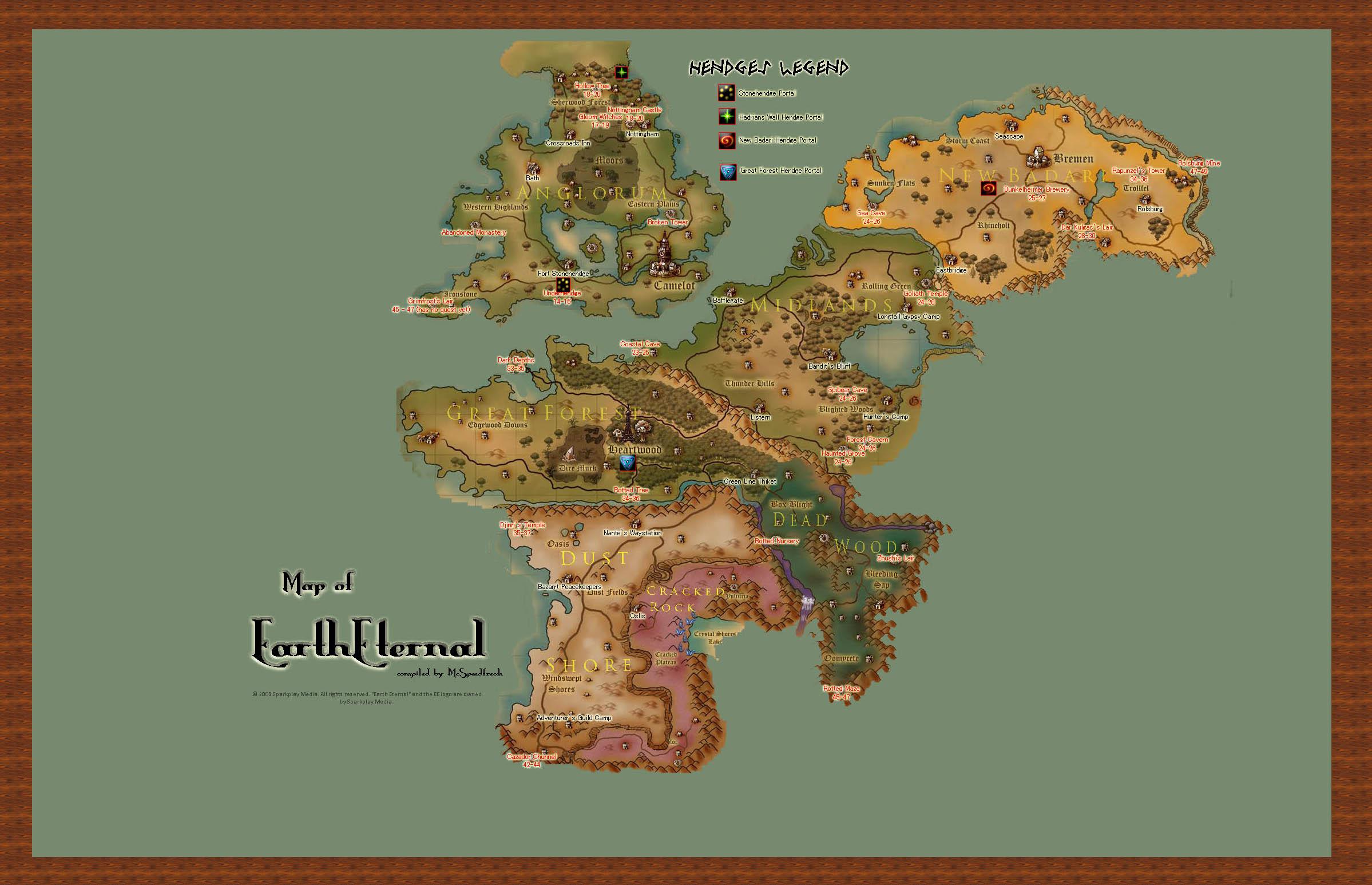map of earth eternal