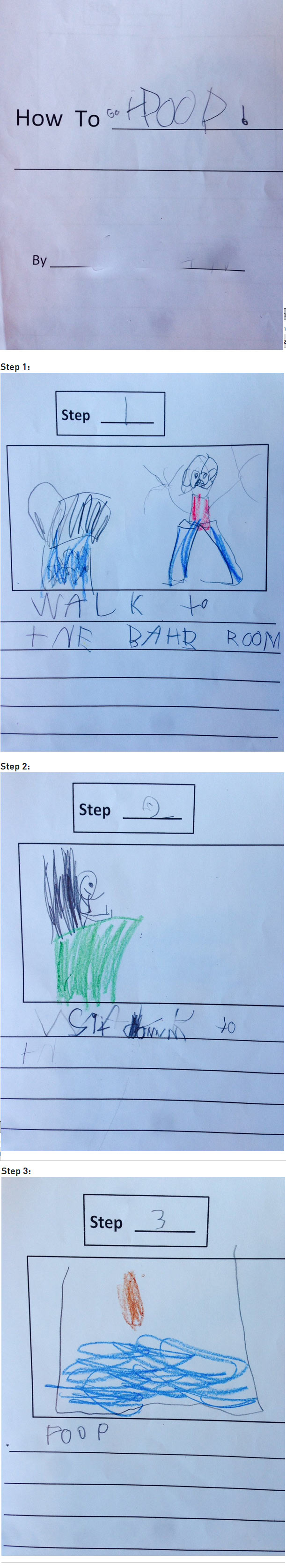 How To Poop, by anonymous kindergartener.