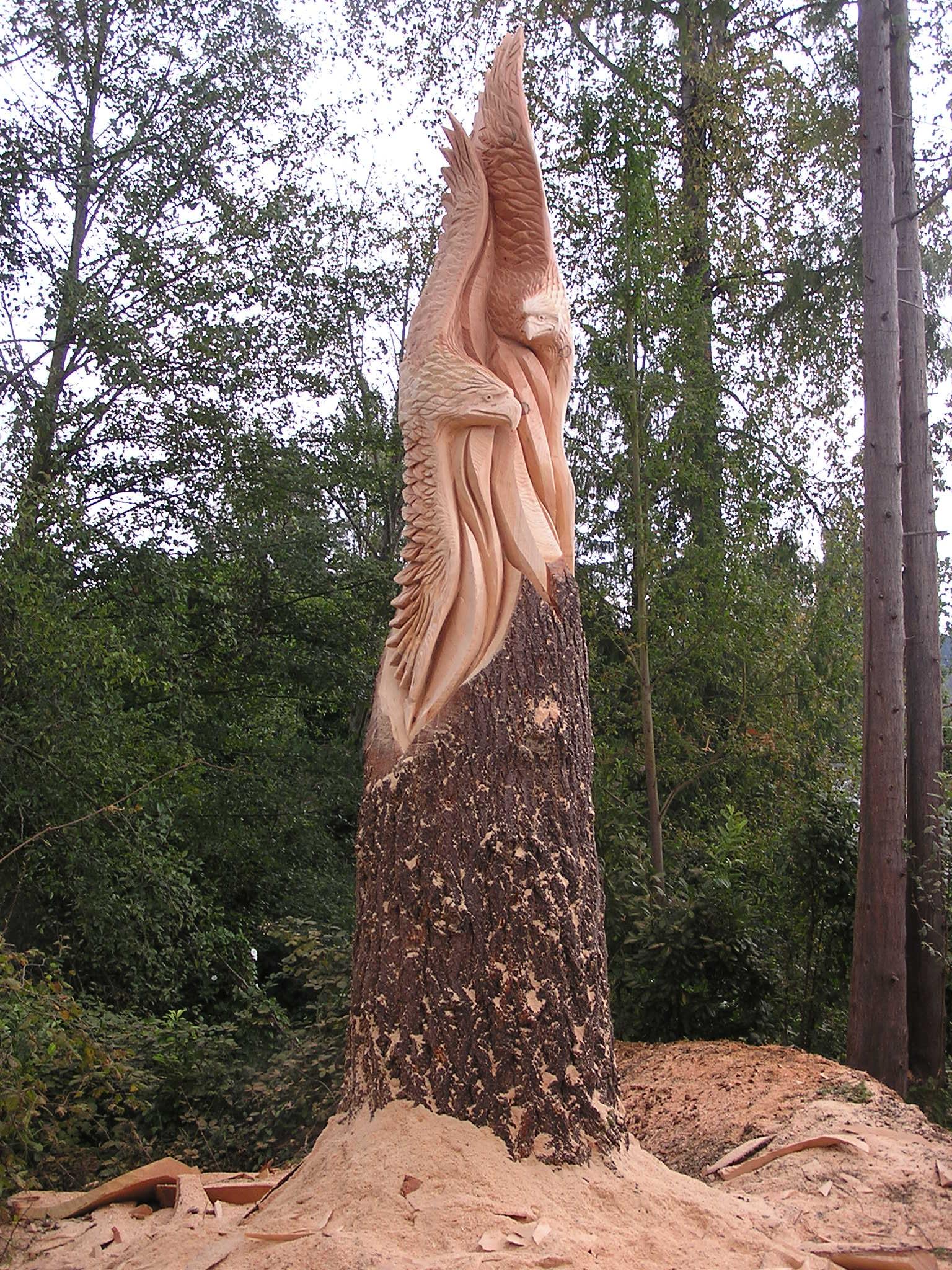 24 Impressive Stump Carved Sculptures Pop Culture