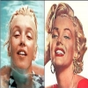 Marilyn Monroe before and after make-up