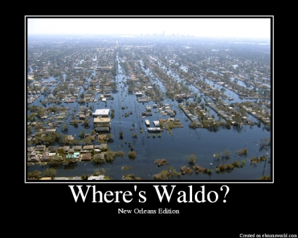 Find waldo in new orleans, finding bush would be harder