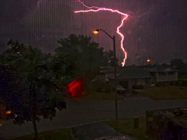 Crazy Red Lightning Picture