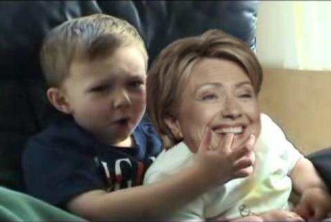 Ouchhh...Hillary Bit Meh... and it really huurt.... it's still huuurting....