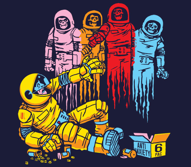 Turns out that Pac-Man is an astronaut running from other zombie astronauts. Wait, what?