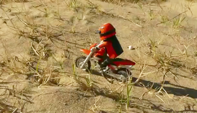 Playmobils get extreme in an off road motocross ride!