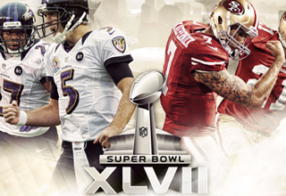 San Francisco 49ers VS. Baltimore Ravens in Super Bowl XLVII
