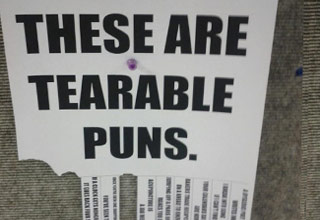 Behold the bad puns...