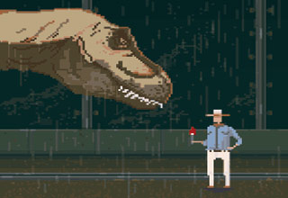 Some classic movie scenes re-imagined as 8-bit style gifs!