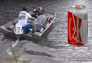 A nice guy is giving some fellow boaters a tow back to the docks after their boat broke down.  He asks for a beer, and when they toss him one it takes him out! When throwin' a beer to a pal goes wrong.
