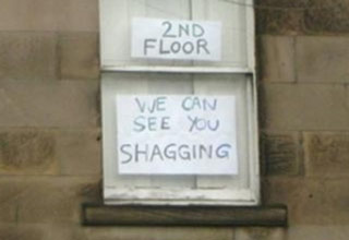 29 funny notes and reminders to and from neighbors.
